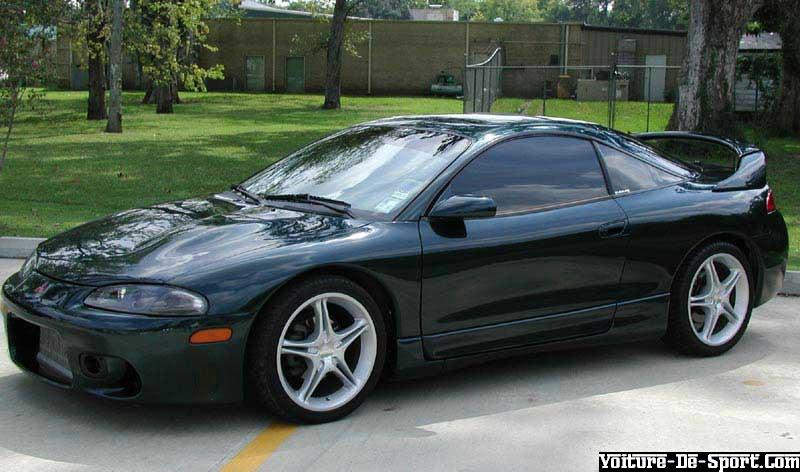 Voiture De Sport Eclipse Noire Mitsubishi Eclipse