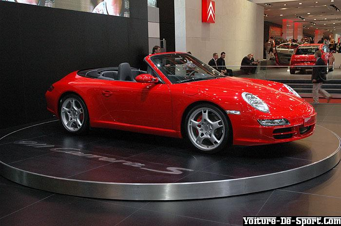 Souvent Voiture de sport - 997/Porsche 997 rouge cabriolet JA08
