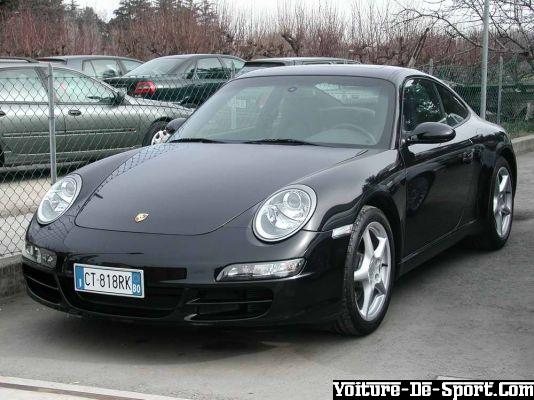 voiture de sport 997 porsche 997 noire. Black Bedroom Furniture Sets. Home Design Ideas